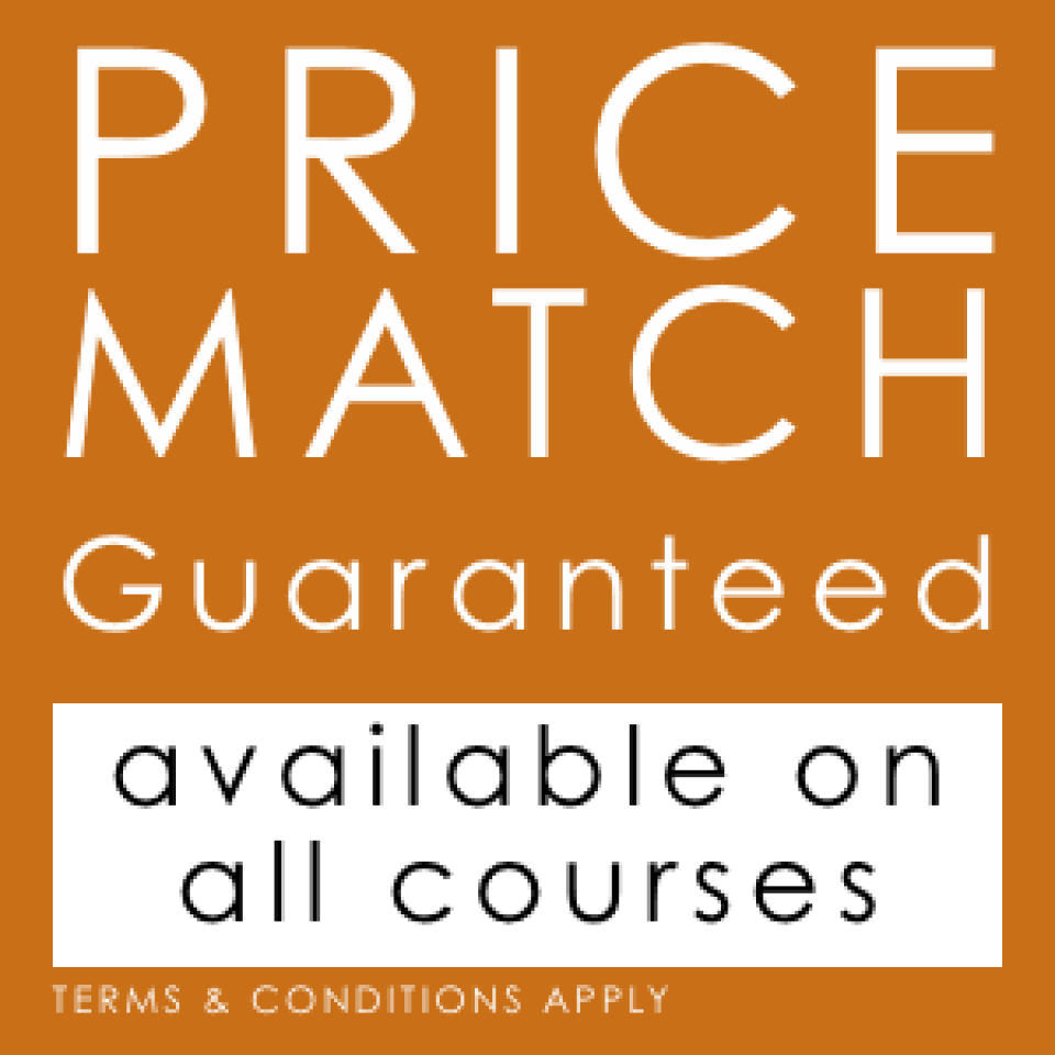 Found one of our courses cheaper elsewhere? We'll Match It!