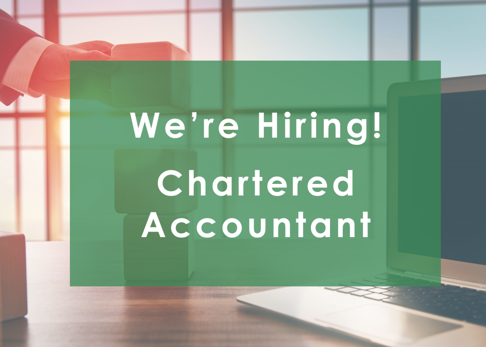 We're Hiring  - Chartered Accountant