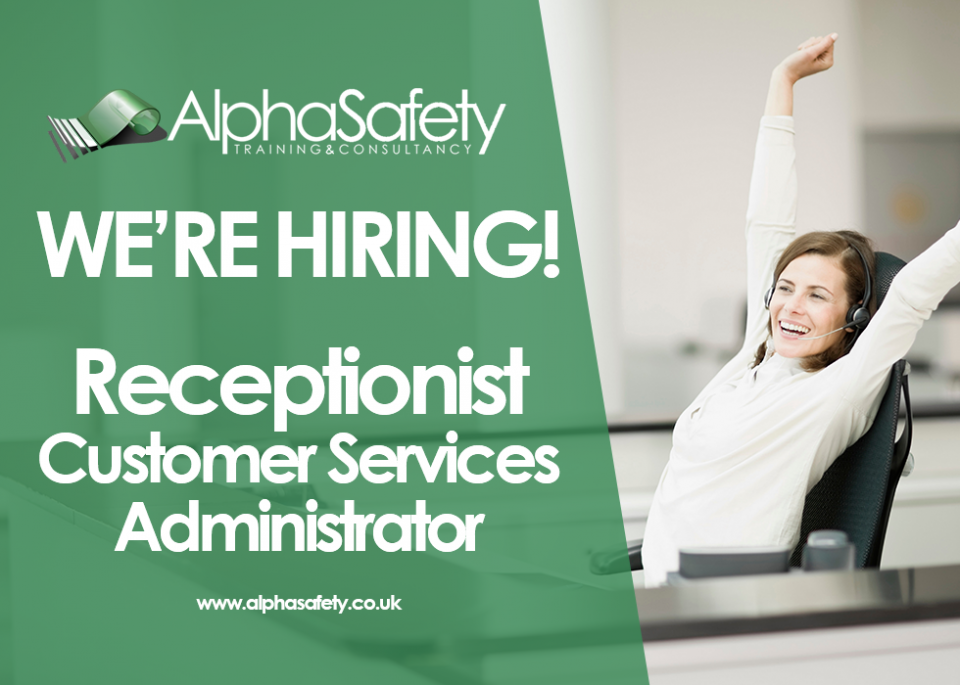 Job Vacancy | Receptionist / Customer Services Administrator