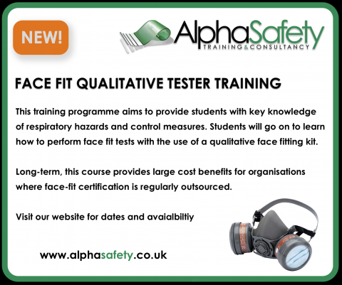 Alpha Safety Launch Face Fit Tester Course image