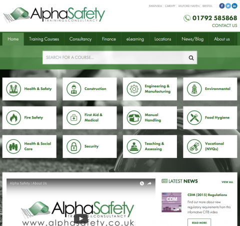 Alpha Safety Launch New Website image